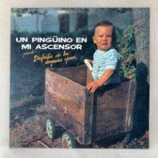 Disques de vinyle: LP UN PINGÜINO EN MI ASCENSOR - DISFRUTAR CON LAS DESGRACIAS AJENAS + PÓSTER - ESPAÑA - AÑO 1989. Lote 286184538