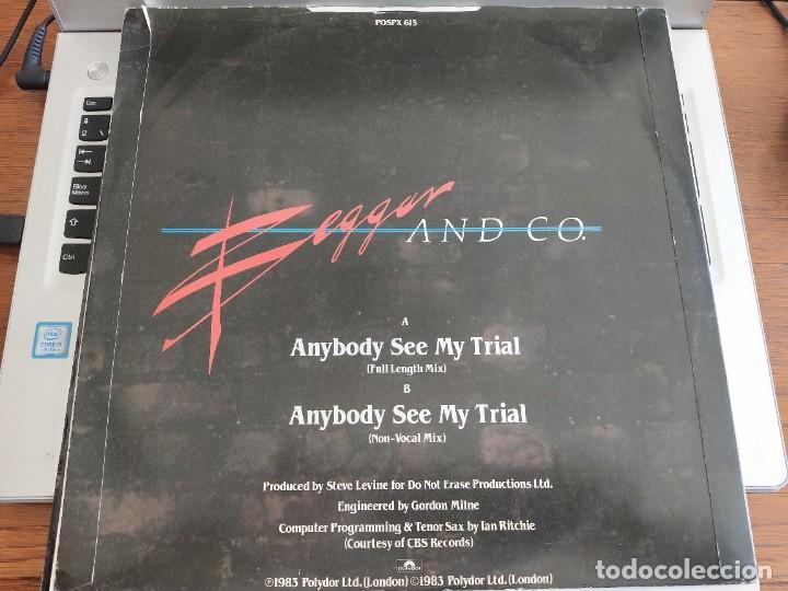"""Discos de vinilo: Beggar & Co. – Anybody See My Trial.1983. Polydor – POSPX 615 12"""", NUEVO. MINT / VG+ - Foto 2 - 286200298"""