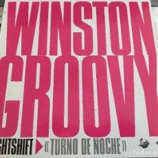 """Discos de vinilo: WINSTON GROOVY – NIGHT SHIFT / TURNO DE NOCHE. JIVE – JIVE T 93. 12"""". MAXI. NUEVO. MINT/ NEAR MINT. Lote 286202368"""