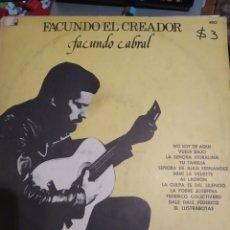 Discos de vinilo: FACUNDO CABRAL. EL CREADOR. IMPORTADO DE ARGENTINA.. Lote 286209068