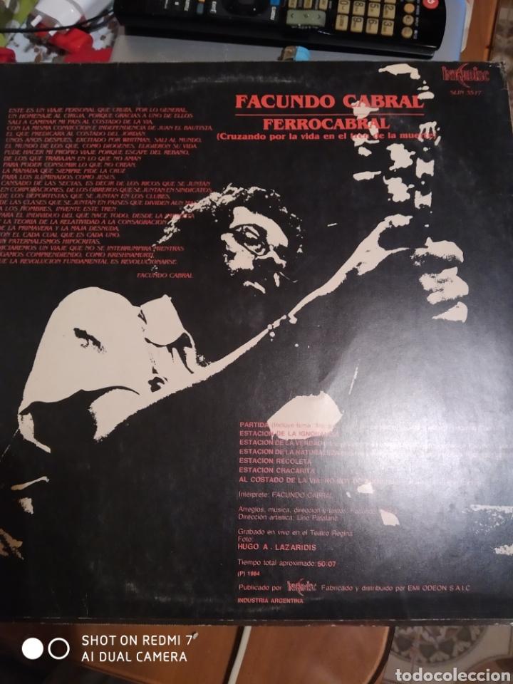 Discos de vinilo: Facundo Cabral. Ferrocarril. - Foto 2 - 286209508