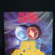 Discos de vinil: LP PUBLIC ENEMY - FEAR OF A BLACK PLANET , 1990 ESPAÑA, +INSERT.. Lote 286239163