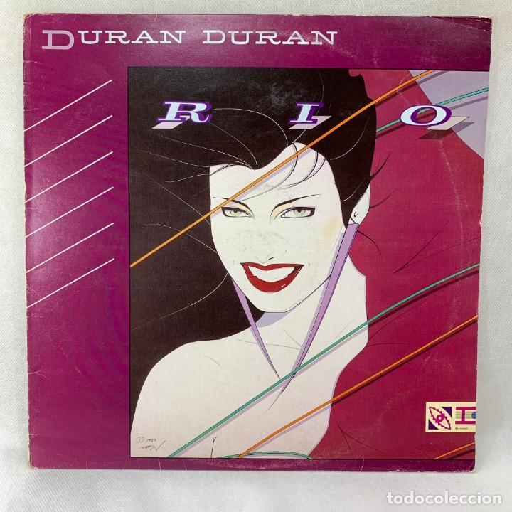 LP - VINILO DURAN DURAN - RIO + ENCARTE - ESPAÑA - AÑO 1982 (Música - Discos - LP Vinilo - Pop - Rock - New Wave Internacional de los 80)