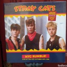 Discos de vinilo: STRAY CATS–NYC RUMBLE! (LIVE AT THE RITZ OCTOBER 18TH 1988) LP VINILO PRECINTADO.. Lote 286250673