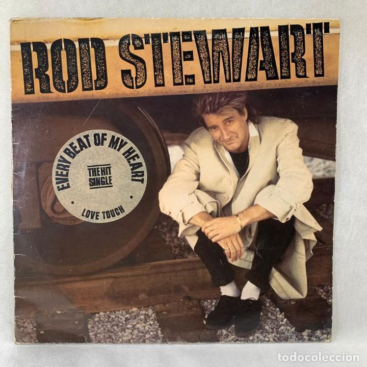 LP - VINILO ROD STEWART - EVERY BEAT OF MY HEART + ENCARTE - ESPAÑA - AÑO 1986 (Música - Discos - LP Vinilo - Pop - Rock - New Wave Internacional de los 80)
