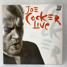 Disques de vinyle: LP - VINILO JOE COCKER - LIVE - DOBLE PORTADA - DOBLE LP - ESPAÑA - AÑO 1990. Lote 286328023