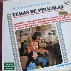 Disques de vinyle: LP - TEMAS DE PELICULAS - ORQUESTA ROMANTICOS DE CUBA (SPAIN, ZAFIRO 1970). Lote 286347753