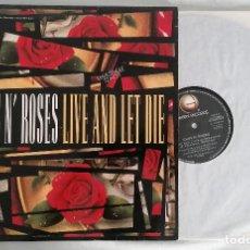 Discos de vinilo: DISCO VINILO GUNS N' ROSES LIVE AND LET DIE MAXI SINGLE 1991. Lote 286360573
