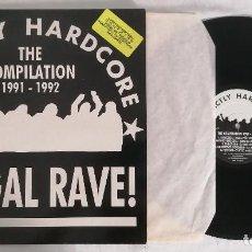 Disques de vinyle: DISCO VINILO STRICTLY HARDCORE 1991-1992 ILLEGAL RAVE! LP 1992. Lote 286360983