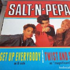 "Discos de vinilo: SALT-N-PEPA* – GET UP EVERYBODY / TWIST AND SHOUT. FFRR – 886.409-1. 12"".NUEVO. MINT/ NEAR MINT. Lote 286373783"
