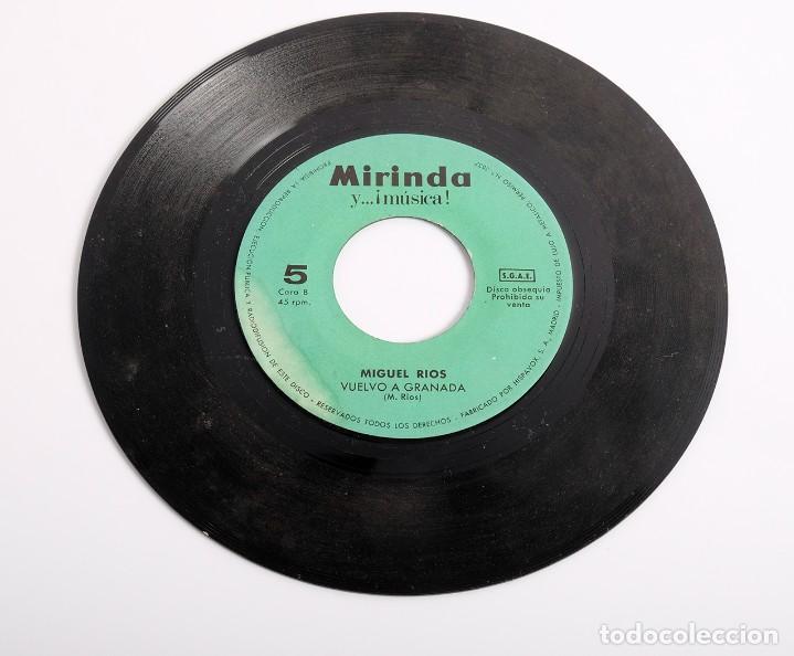 Discos de vinilo: Disco single. Miguel Rios. El río y vuelvo a Granada. Mirinda y la música. 1969 - Foto 2 - 286380708