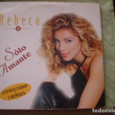 Discos de vinilo: REBECA SOLO AMANTE. Lote 286415448