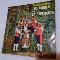 Discos de vinilo: PARRANDA LOS TORRES DE LA ESPERANZA - FOLIAS, SEGUIDILLAS Y SALTONAS. MUY ESCASO. Lote 286444903