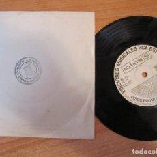 Disques de vinyle: SINGLE VINILO DISCO PROMOCIONAL EDICIONES MUSICALES RCA ESPAÑOLA BARCELONA LOS CHEYENES RITA PAVONE. Lote 286452003