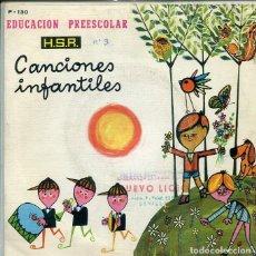 Discos de vinilo: CANCIONES INFANTILES Nº 3 (VARIAS) EP H.S.A. 1973). Lote 286506923
