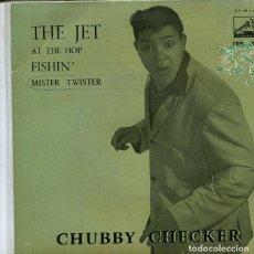 Discos de vinilo: CHUBBY CHECKER / THE JET + 3 (EP LA VOZ DE SU AMO 1963). Lote 286511203