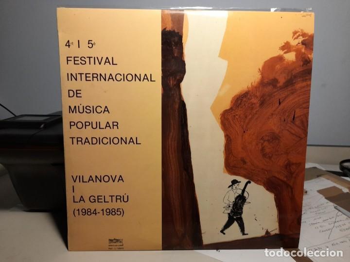 DOBLE LP QUART I CINQUE FESTIVAL DE MUSICA POPULAR Y TRADICIONAL ( VILANOVA I LA GELTRU ) (Música - Discos - LPs Vinilo - Música Infantil)