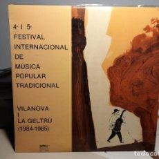 Discos de vinilo: DOBLE LP QUART I CINQUE FESTIVAL DE MUSICA POPULAR Y TRADICIONAL ( VILANOVA I LA GELTRU ). Lote 286533133