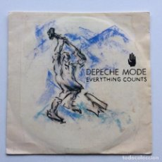 Discos de vinilo: DEPECHE MODE – EVERYTHING COUNTS / WORK HARD , SCANDINAVIA,1983 MUTE. Lote 286565558