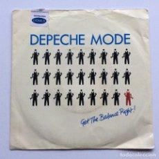 Discos de vinilo: DEPECHE MODE – GET THE BALANCE RIGHT! / THE GREAT OUTDOORS! , SCANDINAVIA 1983 MUTE. Lote 286569628