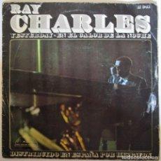 Discos de vinilo: RAY CHARLES - YESTERDAY - EN EL CALOR DE LA NOCHE - SINGLE. Lote 286570018