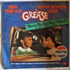 Discos de vinilo: JOHN TRAVOLTA, OLIVIA NEWTON JOHN. GREASE.. Lote 286571418