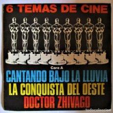 Discos de vinilo: 6 TEMAS DE CINE. CANTANDO BAJO LA LLUVIA,LA CONQUISTA DEL OESTE, DOCTOR ZHIVAGO.. Lote 286572133