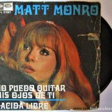 Discos de vinilo: MATT MONRO - NO PUEDO QUITAR MIS OJOS DE TI SINGLE SPAIN CAPITOL/ EMI RECORDS 1969 - SINGLE. Lote 286572188