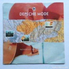 Discos de vinilo: DEPECHE MODE – NEVER LET ME DOWN AGAIN / PLEASURE, LITTLE TREASURE , ESCANDINAVIA 1987. Lote 286573448