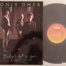 Discos de vinilo: DISCO VINILO THE ONLY ONES BABY'S GOT A GUN (PUNK) LP 1980. Lote 286574783