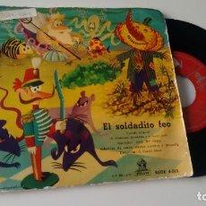 Discos de vinil: CUENTO INFANTIL EL SOLDADITO FEO AÑOS 50. Lote 286602838