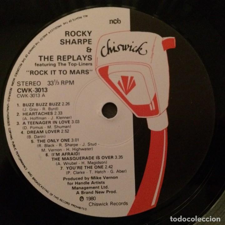 Discos de vinilo: Rocky Sharpe & The Replays – Rock It To Mars , Sweden 1980 Chiswick - Foto 5 - 286650058