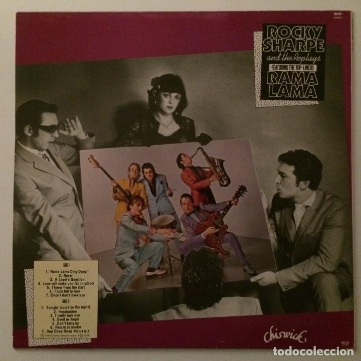 Discos de vinilo: Rocky Sharpe & The Replays Featuring The Top-Liners – Rama Lama , Scandinavia - Foto 2 - 286651333
