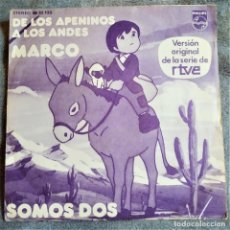 Discos de vinilo: MARCO, DE LOS APENINOS A LOS ANDES, ESPAÑA 1977, PHILIPS – 68 32 133 (VG+_VG+). Lote 286662458