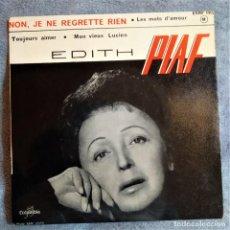 Discos de vinilo: EDITH PIAF - NON JE NE REGRETTE RIEN, FRANCIA 1961, COLUMBIA– ESRF 1312 EXCELENTE (EX_EX)). Lote 286662818