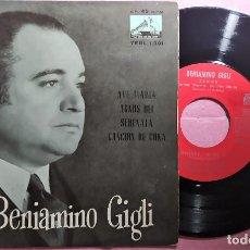 """Discos de vinilo: 7"""" BENIAMINO GIGLI - AVE MARIA +3 - LVDSA 7ERL 1.301 - SPAIN PRESS - HMV - EP (EX-/EX-). Lote 286684213"""