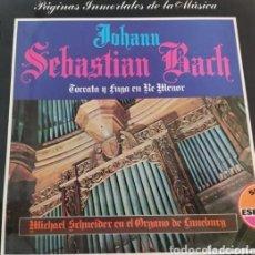 Discos de vinilo: VINILO JOHANN SEBASTIAN BACH. MICHAEL SCHNEIDER EN EL ÓRGANO DE LUNEBURG. SERIE ESPECIAL.. Lote 286684573