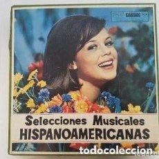 Disques de vinyle: SELECCIONES MUSICALES HISPANOAMERICANAS. COMPUESTO POR 12 DISCOS Y UN FOLLETO.. Lote 286685353
