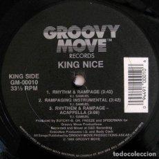 Discos de vinilo: KING NICE / BUTCHY-B – RHYTHM & RAMPAGE / HIP HOP TERRORIST. Lote 286686158