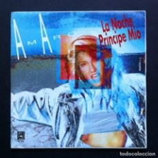 Discos de vinilo: AMARO - LA NOCHE / PRINCIPE MÍO - SINGLE 1991 - HORUS. Lote 286695913