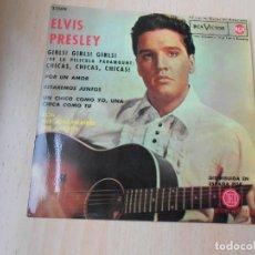 Discos de vinilo: ELVIS PRESLEY, EP, GIRLS ! GIRLS ! GIRLS + 3, AÑO 1987 REEDICION FACSIMIL. Lote 286726598