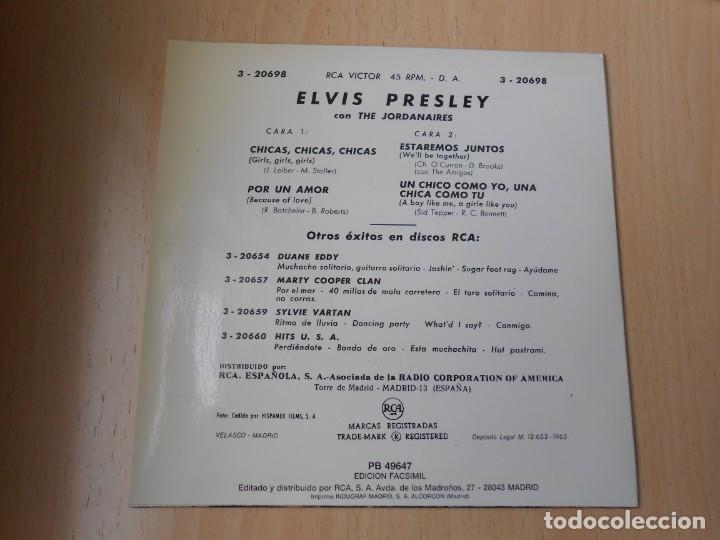 Discos de vinilo: ELVIS PRESLEY, EP, GIRLS ! GIRLS ! GIRLS + 3, AÑO 1987 REEDICION FACSIMIL - Foto 2 - 286726598