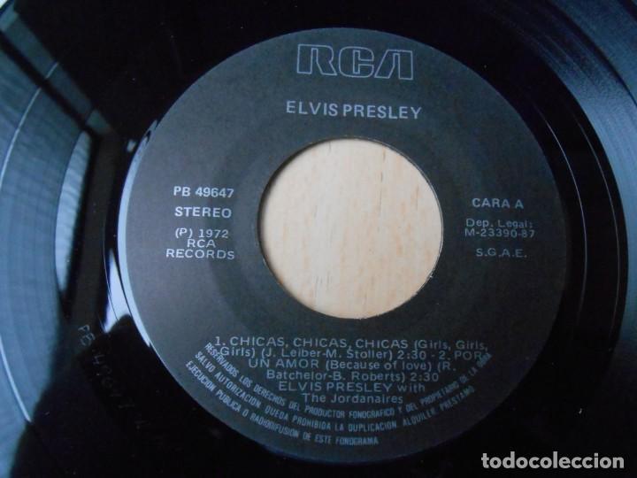 Discos de vinilo: ELVIS PRESLEY, EP, GIRLS ! GIRLS ! GIRLS + 3, AÑO 1987 REEDICION FACSIMIL - Foto 3 - 286726598