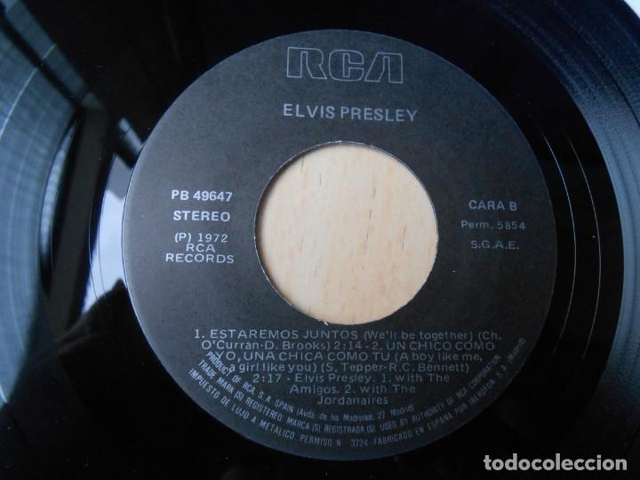 Discos de vinilo: ELVIS PRESLEY, EP, GIRLS ! GIRLS ! GIRLS + 3, AÑO 1987 REEDICION FACSIMIL - Foto 4 - 286726598