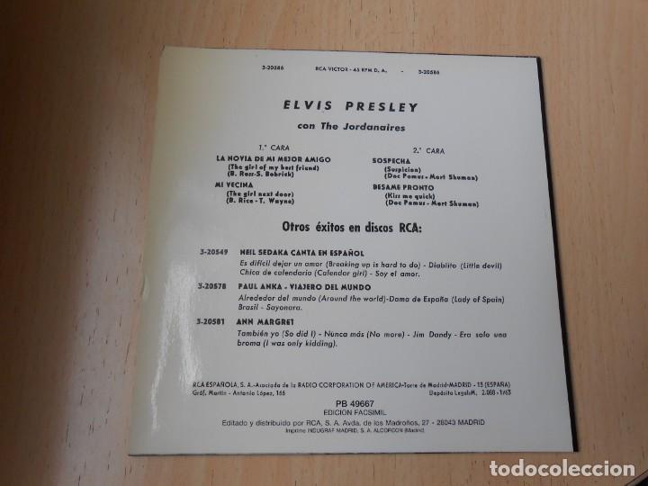 Discos de vinilo: ELVIS PRESLEY, EP, LA NOVIA DE MI MEJOR AMIGO + 3, AÑO 1987 REEDICION FACSIMIL - Foto 2 - 286728238