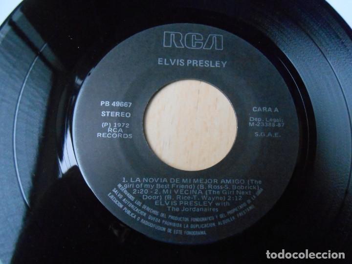 Discos de vinilo: ELVIS PRESLEY, EP, LA NOVIA DE MI MEJOR AMIGO + 3, AÑO 1987 REEDICION FACSIMIL - Foto 3 - 286728238