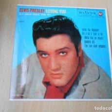Discos de vinilo: ELVIS PRESLEY, EP, LOVING YOU + 3, AÑO 1987 REEDICION FACSIMIL. Lote 286729728