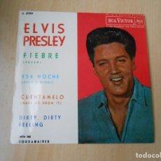 Discos de vinilo: ELVIS PRESLEY, EP, FIEBRE (FEVER) + 3, AÑO 1987 REEDICION FACSIMIL. Lote 286730528
