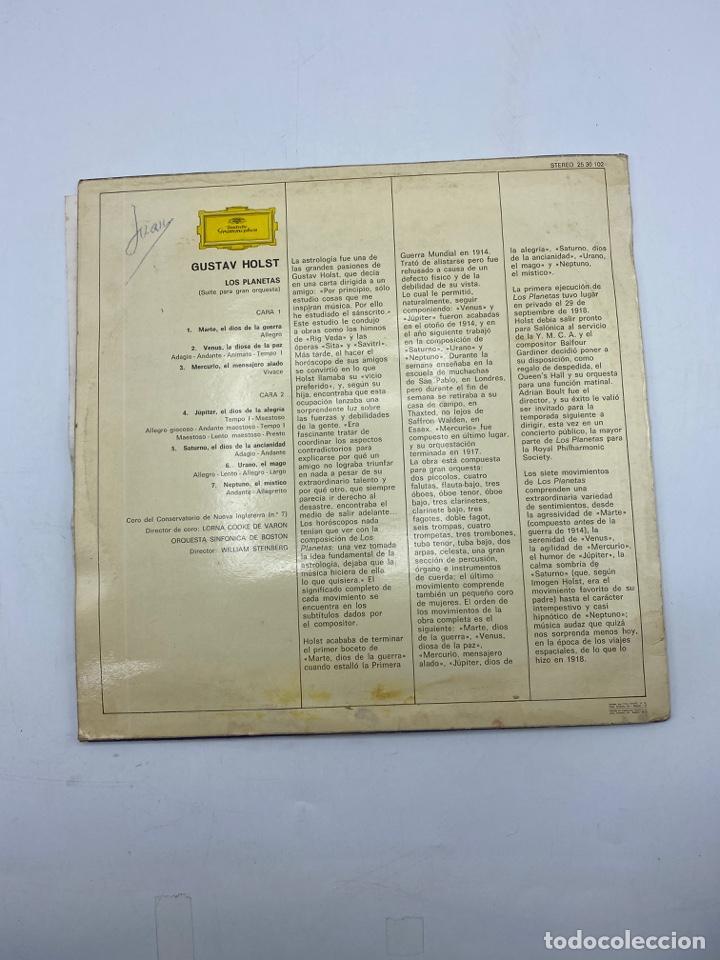 Discos de vinilo: GUSTAV HOLST. LOS PLANETAS. DEUTSCHE GRAMMOPHON. STEREO. 1973. VER FOTOS - Foto 3 - 286767158