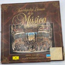 Discos de vinilo: ENCICLOPEDIA LAROUSSE DE LA MUSICA. ARGOS VERGARA. CONTIENE 11 LP'S.. Lote 286767578